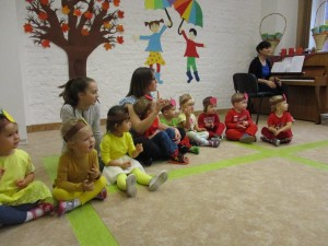 Koncert jesienny i pasowanie na przedszkolaka: grupa niebieska